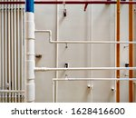 pipes of the gas boiler...   Shutterstock . vector #1628416600