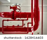 pipes of the gas boiler...   Shutterstock . vector #1628416603