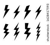 flash lightning bolt set hand... | Shutterstock .eps vector #1628417593