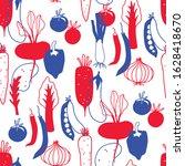 seamless vegetable background.... | Shutterstock .eps vector #1628418670