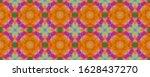 portuguese summer flower ikat....   Shutterstock . vector #1628437270