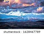 Snowy Hermon Mountain Cloudy ...