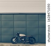 Old Motorbike Parking Near Gray ...