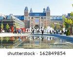 Rijksmuseum in Amsterdam the Netherlands - stock photo