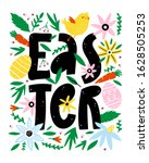 happy easter greeting card with ... | Shutterstock .eps vector #1628505253