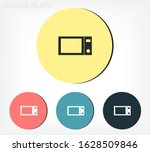 microwave grill icons. for... | Shutterstock .eps vector #1628509846
