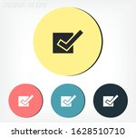check outline icon isolated on...