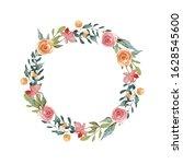 floral card. spring easter... | Shutterstock . vector #1628545600