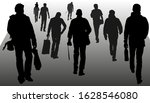 vector silhouettes of people... | Shutterstock .eps vector #1628546080