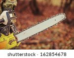 chainsaw. | Shutterstock . vector #162854678