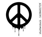 peace sign. vector peace icon....   Shutterstock .eps vector #1628602729