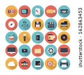 modern flat icons vector... | Shutterstock .eps vector #162863453