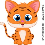 tiger cartoon | Shutterstock .eps vector #162865958