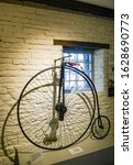 Small photo of YORK, UK - DECEMBER 29, 2016: a Penny Farthing Bicycle from 1870-80 at York Castle Museum, York, Yorkshire, UK