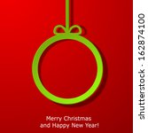 modern xmas greeting card with... | Shutterstock .eps vector #162874100