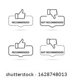 recommended and not recommended ... | Shutterstock .eps vector #1628748013