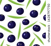 seamless pattern with ripe acai ...   Shutterstock .eps vector #1628797750