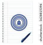bottle of alcohol icon pen...   Shutterstock .eps vector #1628815396