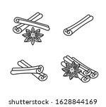 Cinnamon Set. Collection Icon...