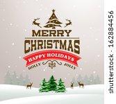christmas vector background in...   Shutterstock .eps vector #162884456