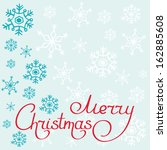 merry christmas hand drawn... | Shutterstock .eps vector #162885608