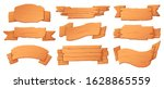wooden banners. wood boards ... | Shutterstock .eps vector #1628865559