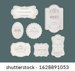 vintage ornament frame design... | Shutterstock .eps vector #1628891053