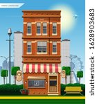 urban landscape. old multi...   Shutterstock .eps vector #1628903683
