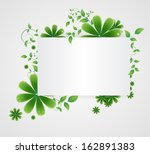flowers on a paper background | Shutterstock .eps vector #162891383