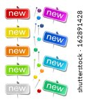 set of color stickers ... | Shutterstock . vector #162891428