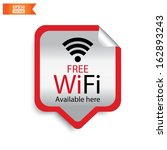 vector  free wifi available... | Shutterstock .eps vector #162893243