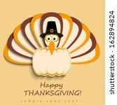 happy thanksgiving turkey  | Shutterstock .eps vector #162894824