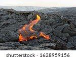 Active Lava Flow On Hawaii ...