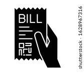 bill of exchange black glyph... | Shutterstock .eps vector #1628967316