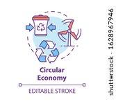 circular economy concept icon.... | Shutterstock .eps vector #1628967946