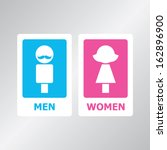 male and female sign vector...