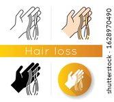 hair strands on hand icon.... | Shutterstock .eps vector #1628970490