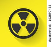 sign radiation flat icon | Shutterstock .eps vector #162897458