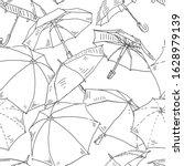 umbrella seamless vector... | Shutterstock .eps vector #1628979139