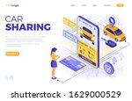 car sharing service concept....   Shutterstock .eps vector #1629000529