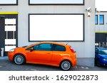 blank white billboard mockup on ...   Shutterstock . vector #1629022873