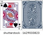poker playing card jack with... | Shutterstock .eps vector #1629033823
