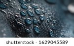 Close Up View On Water Drops O...