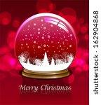 vector snow globe. this... | Shutterstock .eps vector #162904868