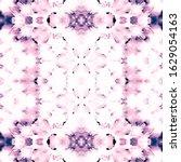 Dip Dyed Fabric. Indigo Lilac...