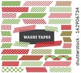 christmas red and green washi...   Shutterstock .eps vector #162906734