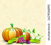 happy thanksgiving day... | Shutterstock .eps vector #162906890