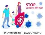 china battles coronavirus... | Shutterstock .eps vector #1629075340