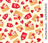 seamless pattern with love... | Shutterstock .eps vector #1629105643