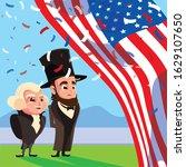 cartoon of presidents george...   Shutterstock .eps vector #1629107650
